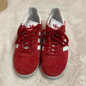 Adidas Gazelle Suede Red Size 8